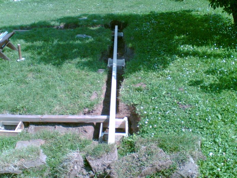 Betonování patek pergoly